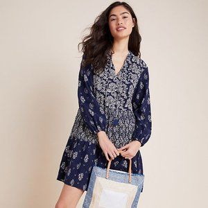 Anthropologie Carlita Tiered Tunic in Navy